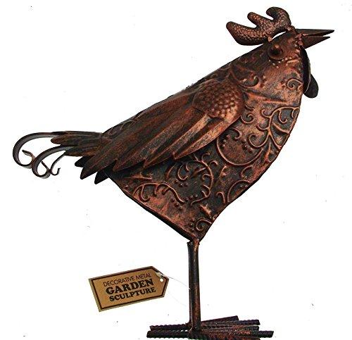 Sculptures de jardin en métal pour décoration de jardin Poule Poulet Sculpture de jardin