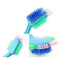 Benbroo 5-Way Brush Plastic Handle Shoe Brush Cleaning Shoe Brush Banister Brush