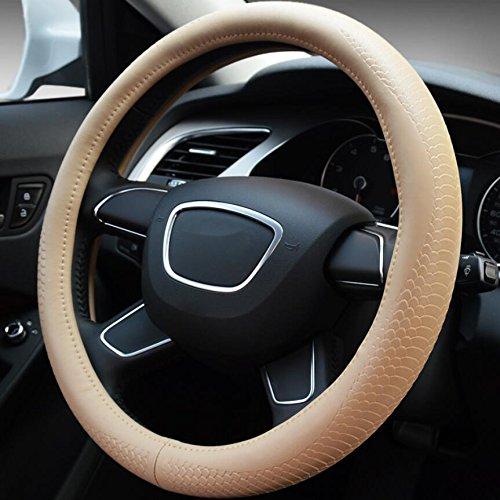 Voiture Volant Couverture Steerings Couvre Satisfr 38 cm De Luxe Cristal Couronne et housse de volant en cuir PU Housse de Volant Voiture antid/érapant Prot/ège volant