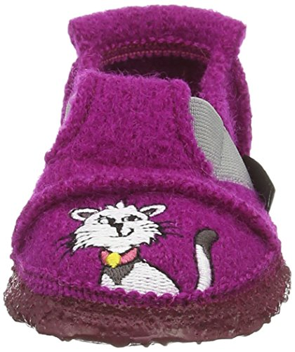 Nanga Little Mousetrap, Chaussons courts, non doublées fille Rose - Pink (Beere 24)