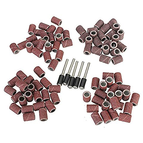 Doradus 92pcs 1/4 bandes de ponçage pouces tambours manchons 60 120 240 320 grains avec 5 mandrin