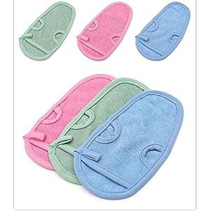 Exfoliating bath towel