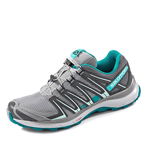 Salomon Xa Lite W, Scarpe Da Trail Running Donna Grigio (Quarry/quiet Shade/deep Peacock Blu)