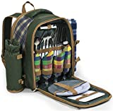Andes 4 Person Deluxe Picnic Set Hamper Backpack/Rucksack With Cool Bag