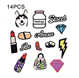 #10: iDream Iron on patches, Assorted Size Iron Embroidery Appliqué Decoration DIY Patch for Jeans Clothing etc (Theme F)