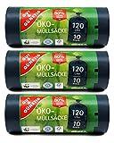 30 Öko Müllsäcke - 120 Liter - Besonders Reißfest & Flüssigkeitsdicht -