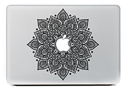 er, Morbuy abnehmbare Kunst Creative Anti-Kratz-Beschichtung Skin Vinyl Schutz MacBook Aufkleber Pro 13 A1706 / A1708 ( Touch Bar /Non Touch Bar) (große schwarze Blume) (Snoopy Cupcake Ringe)