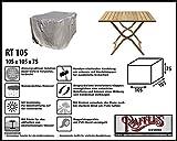 Raffles Covers RT105 Schutzhülle für quadratische Gartentisch 105 x 105 cm Schutzhülle für rechteckigen Gartentisch, Abdeckhaube für Gartentisch, Gartenmöbel Abdeckung