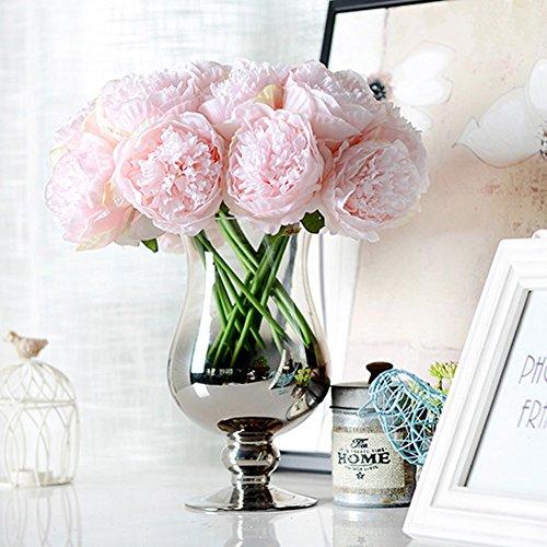 LianLe®Bouquet Fleur Artificiel Pivoine Fleur Déco Mariage Maison
