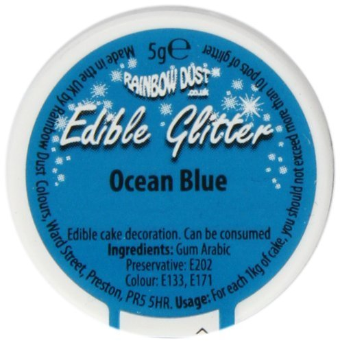 Preisvergleich Produktbild Rainbow Dust Edible Glitter Ocean Blue