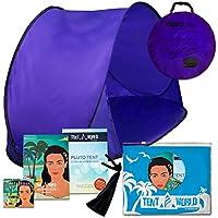Tente de plage Pluto lilas: Un accessoire extraordinaire pour le confort de vos enfants! Une tente de luxe et légère pour les tout-petits venant avec un sac de transport. Tenez votre bébé à l'écart de la chaleur du soleil, du vent et de la pluie.