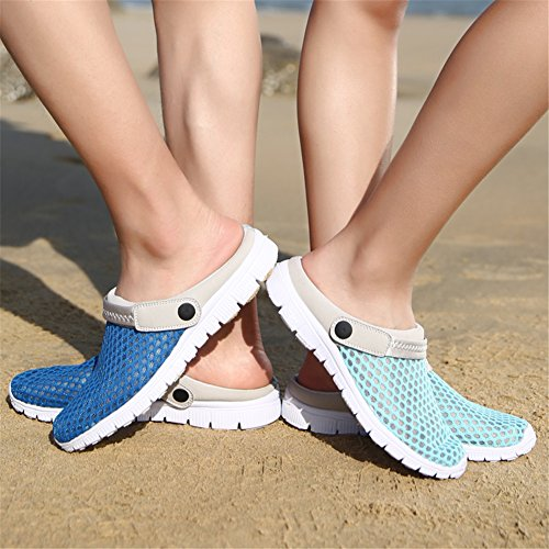 SAGUARO® Unisex Clogs Hausschuhe Muffin unten alltägliche Drag Hausschuhe Beach Schuhe Sommer Tiefes Blau