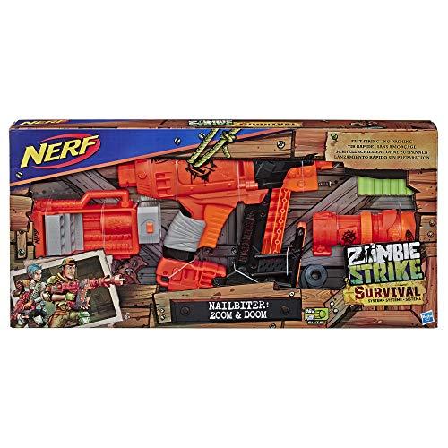 Nerf- NER Zombie NAILBITER Zoom and Doom, E6163EU4, Multicolour