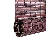 ZEMIN Bambus Rollo Bambusrollo Innen/Außen Installieren Anpassbar Mode Handhebend, 2 Farben, 23 Größen (Farbe : #1, größe : 140x160CM)