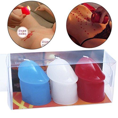 Happy Event 3pcs Niedrigtemperatur Kerzen Drip Wax Sex Toys Erwachsene Frauen Männer Spiele