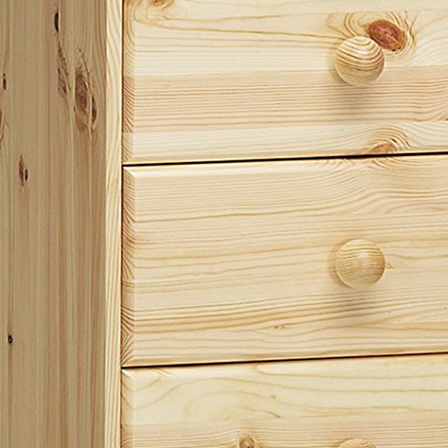 Top Steens Kent 1+4 Drawer Pine Desk, Natural Lacquer Finish Review
