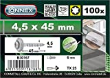 Spenglerschrauben 4,5 x 45 TX A2 100 g im Eimer