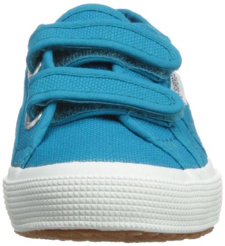 Superga 2750 Jvel Classic, Sneakers Basses mixte enfant Bleu ( Blue Caribe)