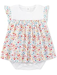 Petit Bateau Robe Body_21996, Vestido para Bebés