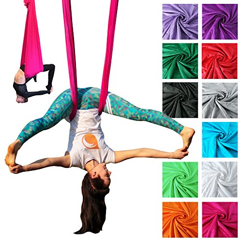 Firetoys® amaca professionale per yoga in volo, realizzata nel regno unito, testata e con certificato di sicurezza, svariati colori, red
