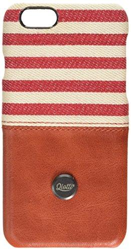QIOTTI QX-C-0110-04-IP6 Snapcase Q.Snap Denim Premium Echtleder für Apple iPhone 6/6S rot Apple Iphone Snap Rot