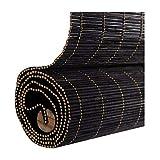 ZEMIN Bambus Rollo Wasserdicht Vorhang Qualität Bambusrollo Anpassbar Heben, Innen/Außen Installieren, 3 Farben, 24 Größen Wahlweise (Farbe : SCHWARZ, größe : 100x180cm)