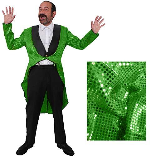 Kostüm Gruppe Sechs Der - GRÜNER MÄNNER Frack/Tailcoat= Pailletten Jacke= DAS PERFEKTE KOSTÜM FÜR Jede TANZAUFFÜHRUNG - STEPTANZ -Fasching UND Karneval = DER SUPER KLASSE =Sequin= IN 6 VERSCHIEDENEN GRÖSSEN=XLarge