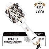 Aiskki One Step Sèche-cheveux,5 en 1 Brosse Soufflante,Multifonctionnelle à Air Chaud Sèche-cheveux Styler et Volumateur Lisseur à Air Chaud Lisseur pour cheveux Blow pour tous les Types de Cheveux