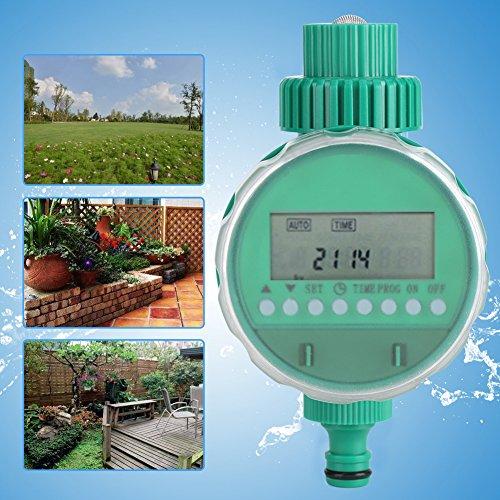 lyrlody - Programador de riego automático con Pantalla LCD, para Sistemas de riego, Funciona con Pilas