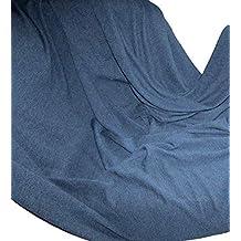 19b61c67a34f Alpenwolle Plaid en Laine Bleu Marine, Couvre-lit 250 x 230 cm, 100