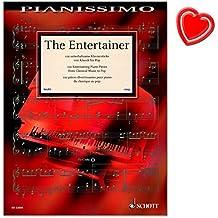 The Entertainer - 100 unterhaltsame Klavierstücke von Klassik bis Pop - Notenbuch mit bunter herzförmiger Notenklammer - Schott Music - ED22600 - 9783795710668