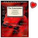The Entertainer–100Entretenidos Partituras de piano de clásico hasta Pop–Ordenador libro con Bunter herzförmiger–Partituras Schott Music–ed22600–9783795710668