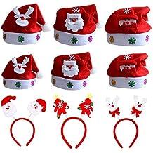 ZYDTRIP 9 Paquetes de Gorro de Navidad para niños y Adultos 37dd33c6087