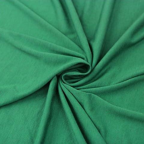 58 Kelly Green Poly Rayon Spandex Jersey Knit Fabric, Fabric by the Yard - 1 Yard by Stylishfabric