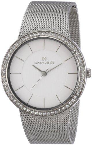 Danish Design 3324429 - Reloj analógico de cuarzo para mujer con correa de acero inoxidable, color plateado