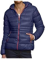 Daunenjacke CMP für Damen mit Kapuze, in vielen Farben erhältlich. Futter 90% Daune 10% kleine Federn. Windstopper. Für Wandern, Outdoor und Freizeit. Sondermodell Piumo