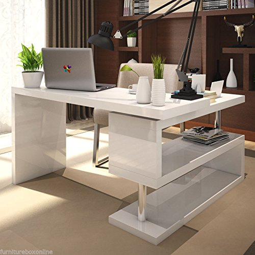 white office corner desk. Furnitureboxuk \u201cSiena\u201d White High Gloss Computer PC Home Executive Study Office Corner Desk