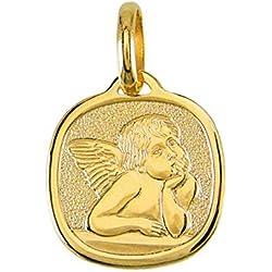 Pendentif - Médaille Ange - Or Jaune - Enfant