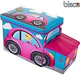 Kinder Staubox und Sitzbank Flotte Biene 55 x 26 x 31 cm Spielzeugbox gepolstert: Spielzeugkiste Spielzeugboxen Sitztruhe Spielzeugtruhe