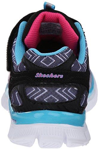 Skechers Appeal Ziggy Zag, Baskets Basses Fille Noir (Noir/Turquoise)