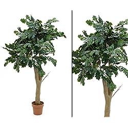 Kunstpflanzen Eichenbaum 170cm hoch - Kunstbaum künstlicher Waldbaum Kunstbäume