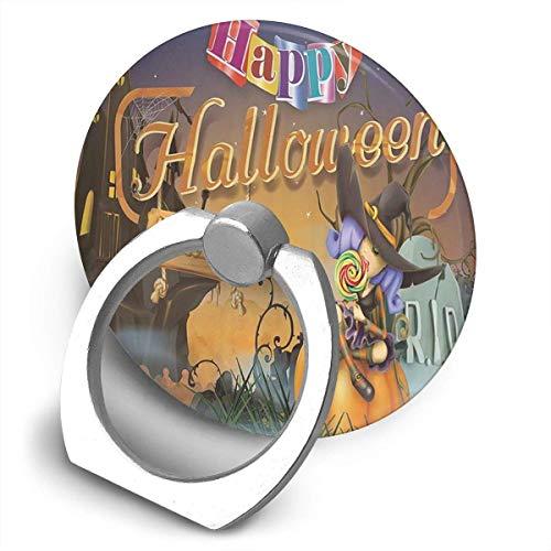 Halloween Hexe Kürbis-Halterung, 360 Grad drehbar, kreativer Ring Schnalle Klammer Klammer Halter für Universal Handy ()
