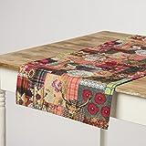Schöner Leben Tischläufer Digitaldruck Patchwork Hirsch 40x160cm