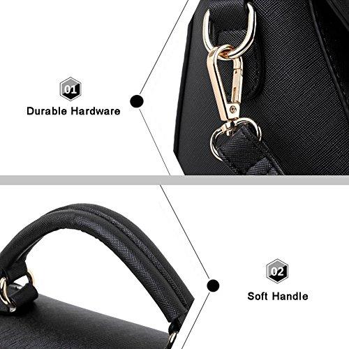 Borse coreane della borsa della borsa Yoome per le ragazze Borse rivetate per le donne Borse piccole per trucco - Borgogna Borgogna