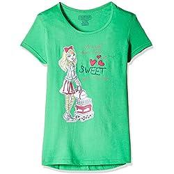 Cherokee Girls' T-Shirt (266056706_Green_11 - 12 years)