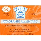 Pote Colorante Alimentario - Pack de 24 x 0.8 g - Total: 19.2 g