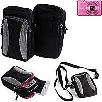 Nikon Coolpix S7000 Digital Case Borsa in Poliestere per Fotocamere compatte, Fondina da Trasporto, Nero-Grigio (Compagno Occhiali Da Sole)