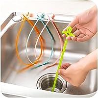 Distinct® 3pcs Sink pulizia Hook bagno Piano di scarico della fogna Dredge strumento di colore casuale