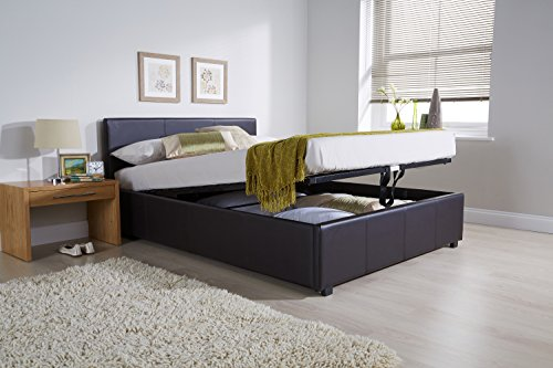 Ottoman Bed with Storage Four Mattress Options - All Size (5ft King Size No Mattress, Brown)
