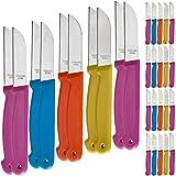 30 Stück Küchenmesser Messer Set Obstmesser Schälmesser Allzweckmesser Küche Set